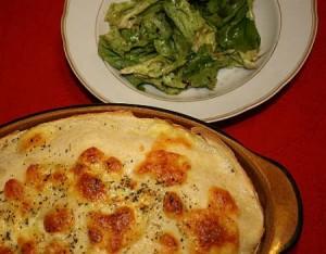 Crêpes-Tomaten-Lasagne