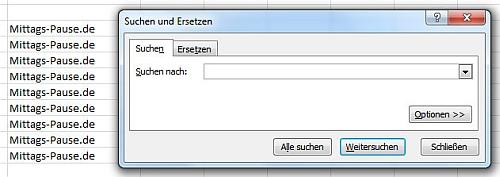 Ersetzen-Funktion bei Excel