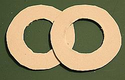 Ringe aus Pappe