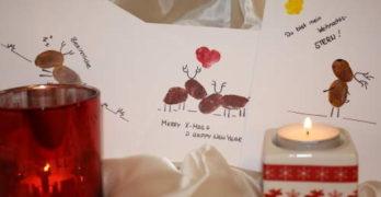 Weihnachtskarten mit Elchen basteln