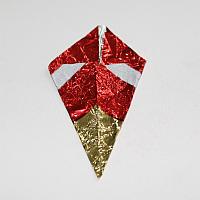 Upcycling-Stern aus Bonbon-Papier