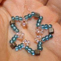 Kleiner blauer Perlenstern