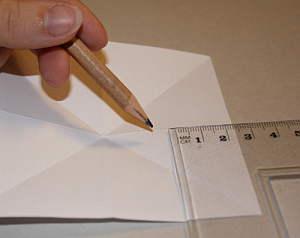 Basteln eines Papiersterns