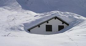 Huas im Schnee