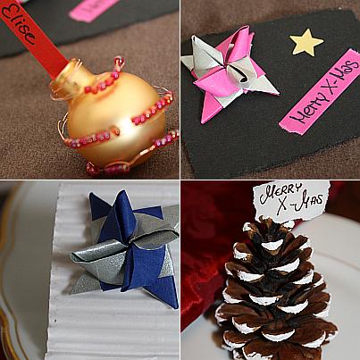 Tischkarten für Weihnachten
