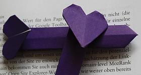 Herz-Lesezeichen basteln