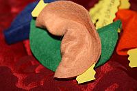 Glückskekse aus Filz basteln