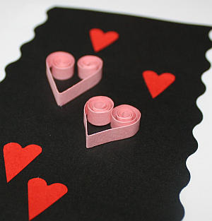 Karte für Valentinstag basteln