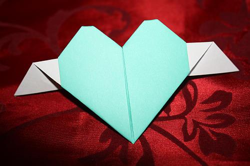 Hervorragend Herz aus Papier falten HX21
