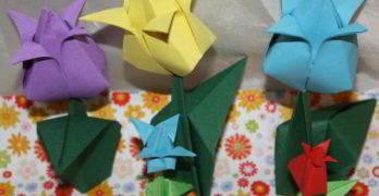 Tulpen basteln aus Papier