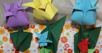 Tulpe falten aus Papier