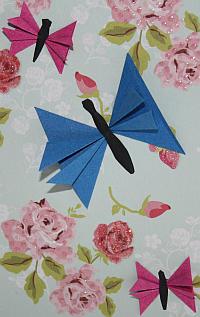 Schmetterlings-Grußkarte basteln