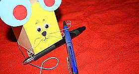 Schnurspender-Maus basteln