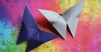 Origami-Schmetterling falten