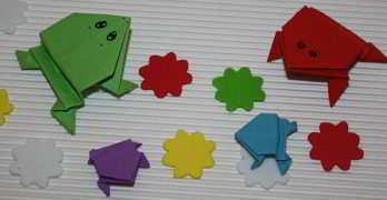 Origami Frosch falten