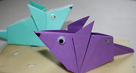 Origami-Maus Anleitung