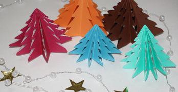 Weihnachtsbaum aus Papier basteln