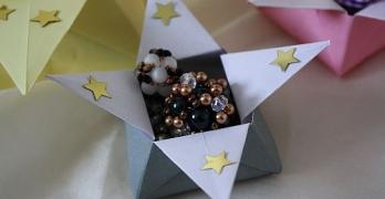 Origami-Sternenschachtel für Nikolaus