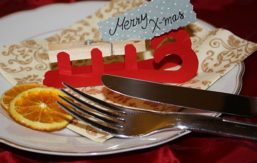 Weihnachtliche tischdeko basteln - Schlitten basteln pappe ...
