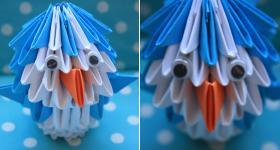 3D-Origami-Pinguin – Bastelanleitung