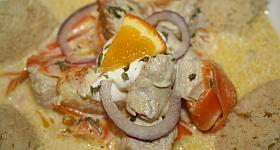 Couscous mit Puten-Orangen-Sauce