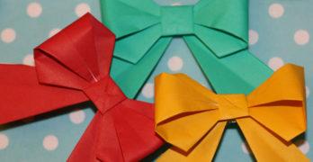 Origami Schleife falten