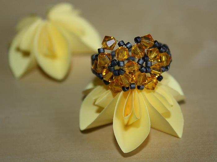 Blüten Fingerring Aus Perlen Selbst Machen