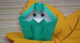 Origami-Eulen basteln – einfache Anleitung für Kinder