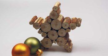 Holzstern als Weihnachtsdeko