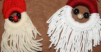 Weihnachtsmann-Anhänger basteln