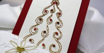 Weihnachtskarten mit Perlen gestalten