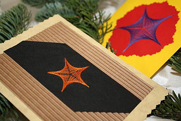 weihnachtskarte-fadentechnik